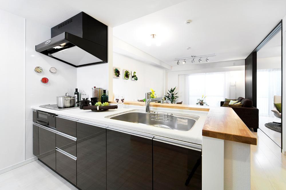 L型キッチンリフォーム画像