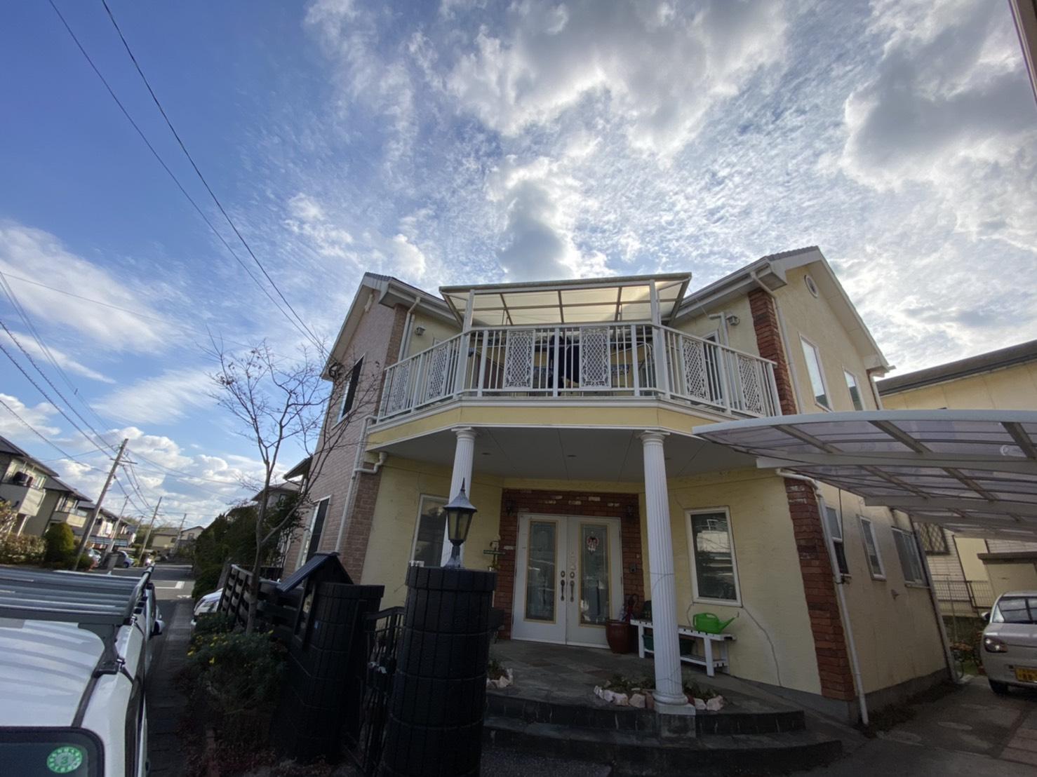 大分市内 U様邸 屋根、外壁塗装画像